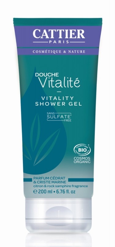 Cattier Douchegel vitaliteit sulfaatvrij bio 200ml