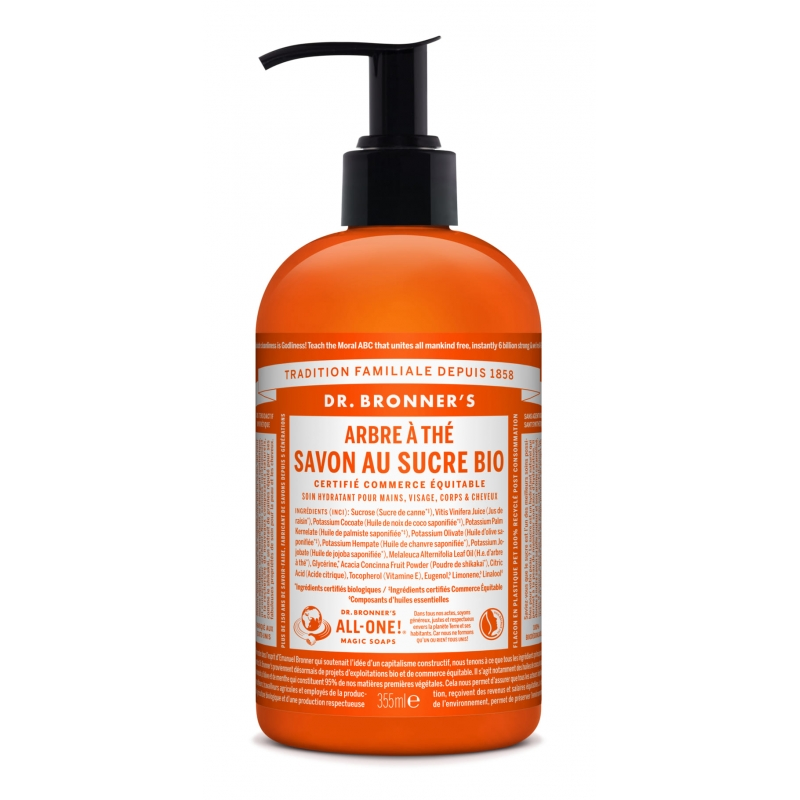 Dr. Bronner's Tea tree zeep pomp bdih 355ml