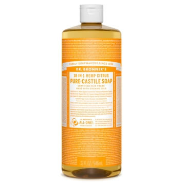 Dr. Bronner's Citrus-orange vloeibare zeep bdih 945ml