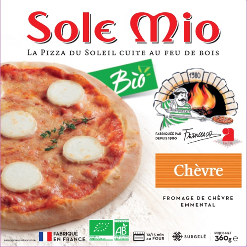 Sole Mio pizza buche de chevre bio 360g